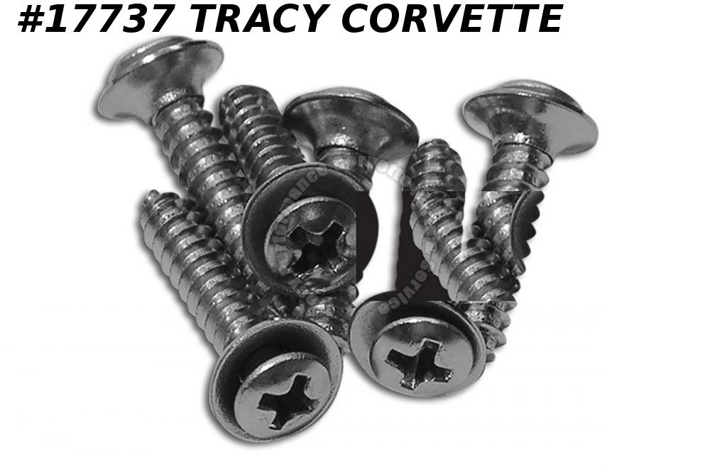 1968-1982 Corvette Rear Coupe Roof Panel Screws - Set of 6