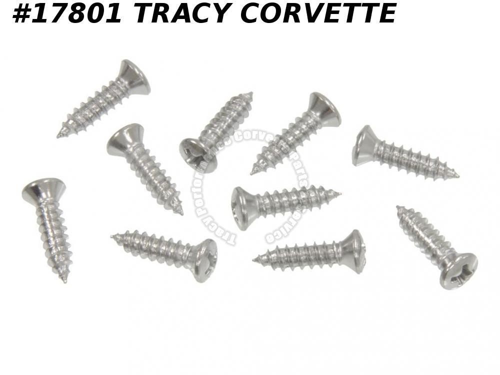 1964-1967 Corvette Console Screw Set GM# 9414753 - 10 Pieces