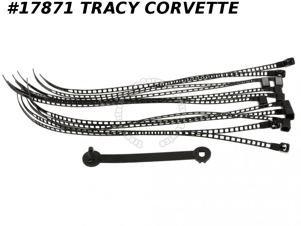 1981 Corvette Engine And Wire Tie Strap Kit 14 Pieces