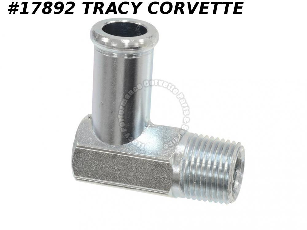 1961-1962 Corvette GM# 3786778 Water Pump Fitting - 90 Degree Top