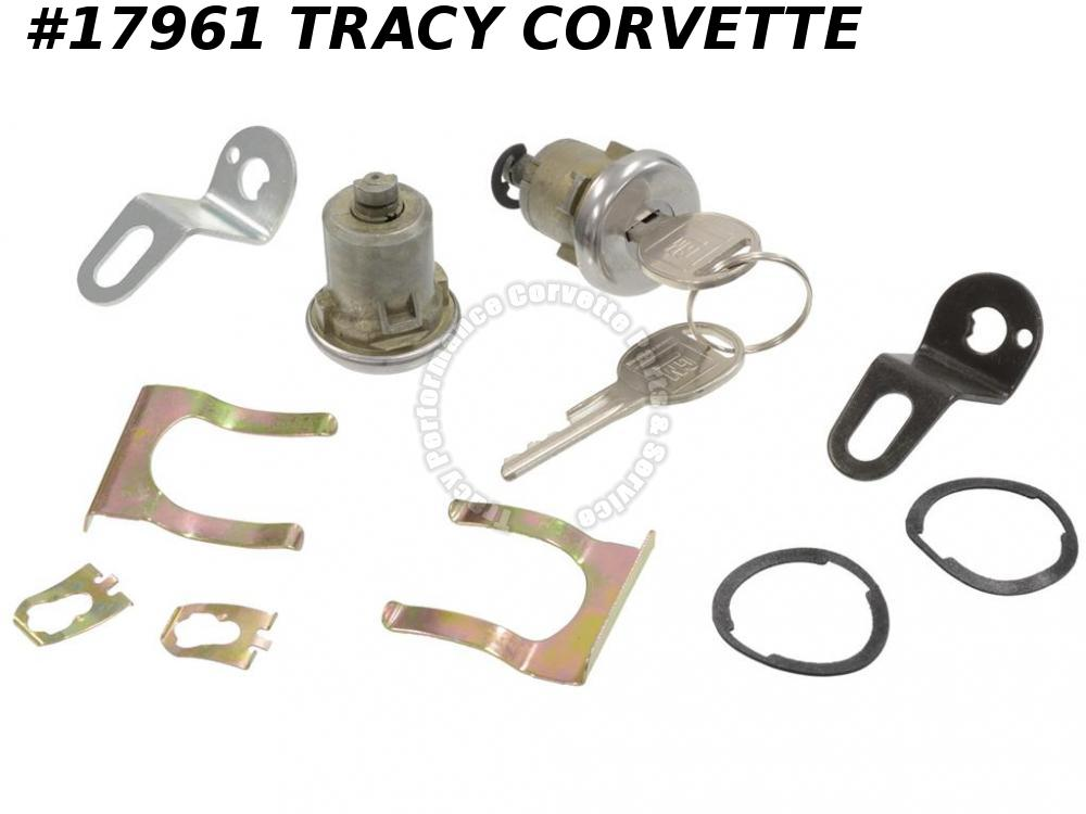 1978-1980 Corvette Door Lock With Pawls And Keys With Left Door Lock Alarm