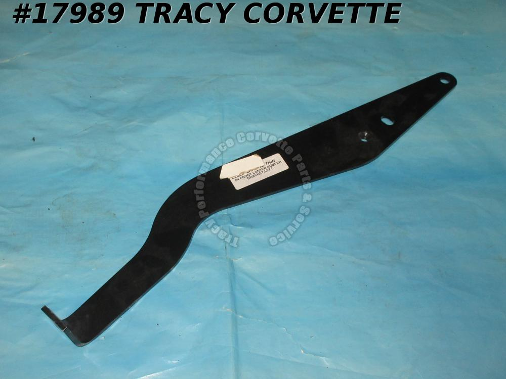 1964 Corvette Bumper Bracket - 3848213 Center Front Through Grille Left - Thin