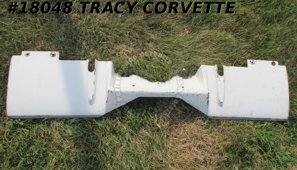 1969-1973 Corvette Filler Panel 3948133 Rear Valance w/ Side Exhaust Black Glass
