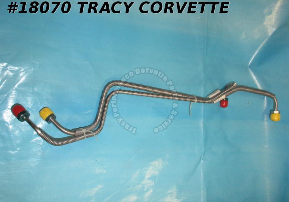 1970-1973 Corvette Master Cylinder Brake Lines Front And Rear Standard Stainless