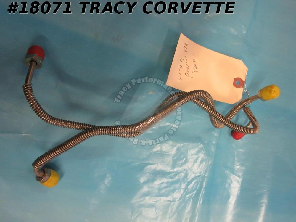 1970-1973 Corvette Brake Lines Master Cylinder Front Rear to Block Power Brakes