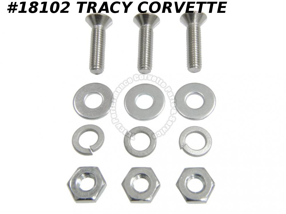 1963-1967 Corvette GM# 156019 License Lamp Housing Screw Set - 12 Pieces