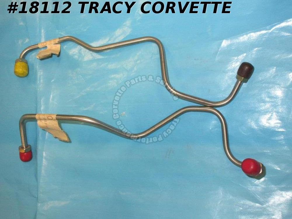 1969 Corvette Brake Lines Master Cylinder to Block Front And Rear Power St Steel