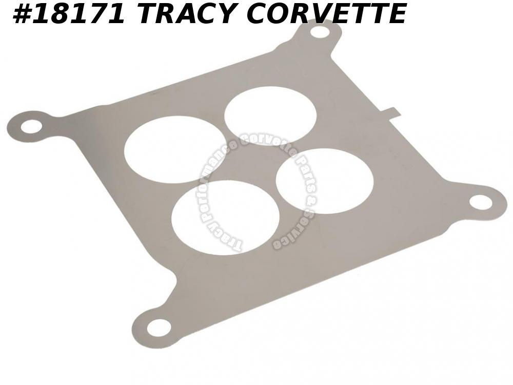 1966-1967 Corvette 3884575 Holley Carburetor Baffle Plate - 300 Or 390 HP