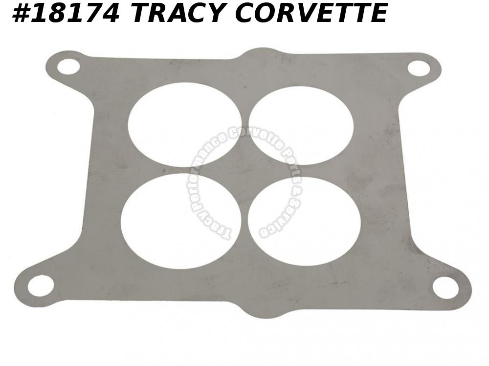 1962-1965 Corvette 3799354 AFB Carburetor Plate Baffle - 300HP Stainless Steel