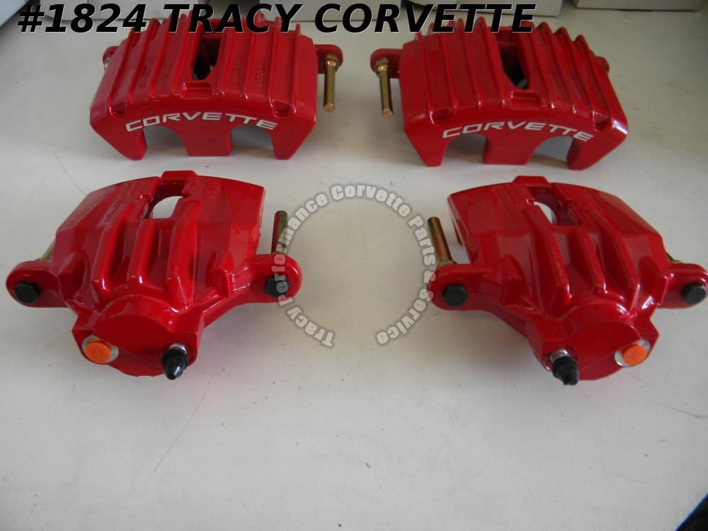 1997-2004 C5 Corvette Brake Calipers Red Z06/2 Frt 2 Rr 97 98 99 00 01 02 03 04