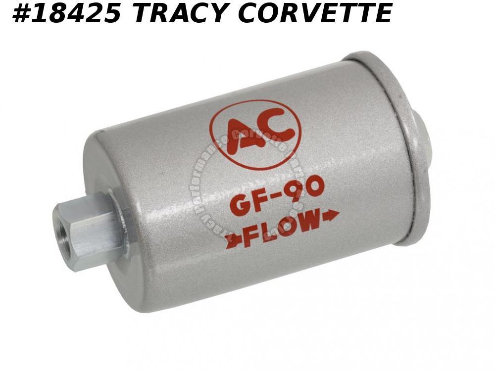 1962 Corvette GF 90 Silver Fuel Gas Filter w/Fuel Injection Correct 327/360 HP