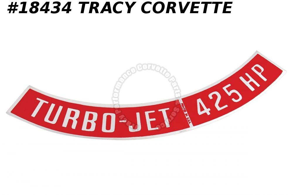1965-1966 Corvette Decals - Air Cleaner 425