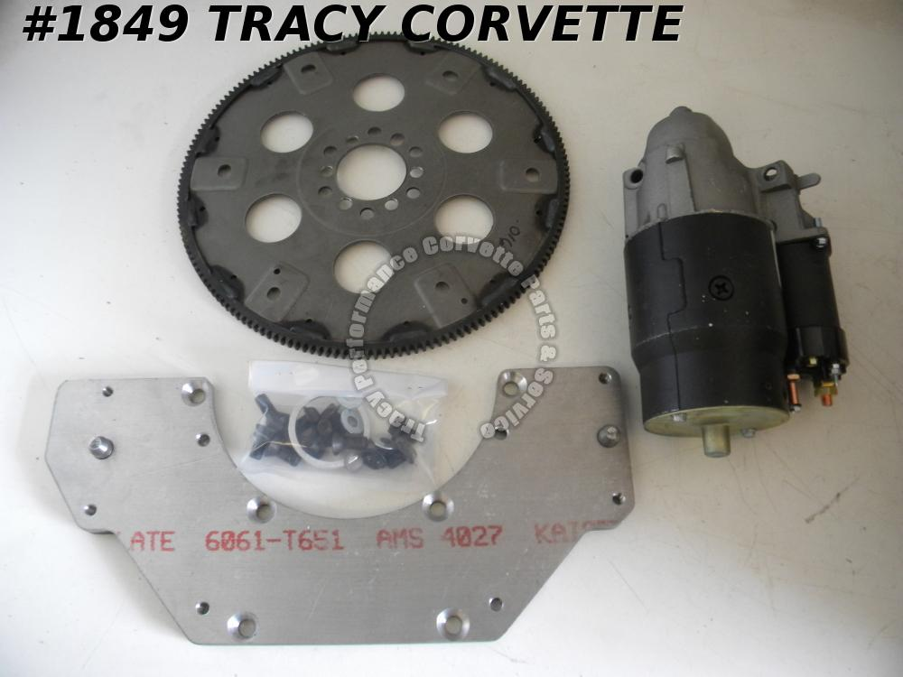 "1955-1962 Chevy 235"" 6 Cylinder to TH Adapter w/Flywheel, Hdwr & 12 Volt Starter"