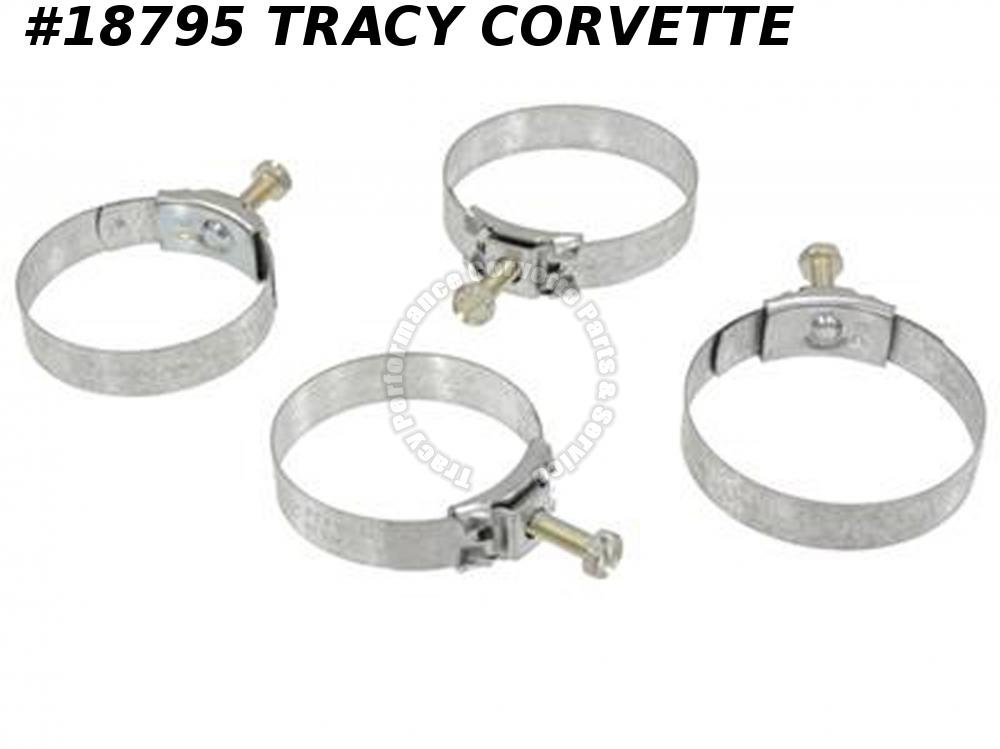 1967-1968 Corvette Upper And Lower Hose Clamp Correct Wittek (4Q67)
