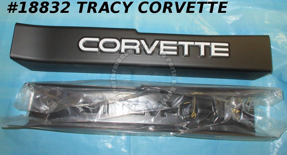 1990-1996 Corvette Door Sill Protection Covers - Black With White Logo