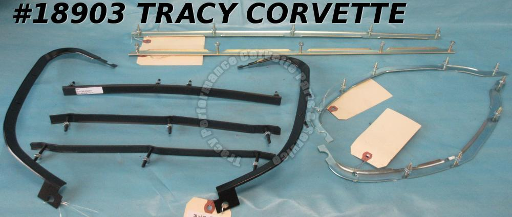 1975-1979 Corvette Bumper Retainer Kit   Front & Rear    USA Made Repro