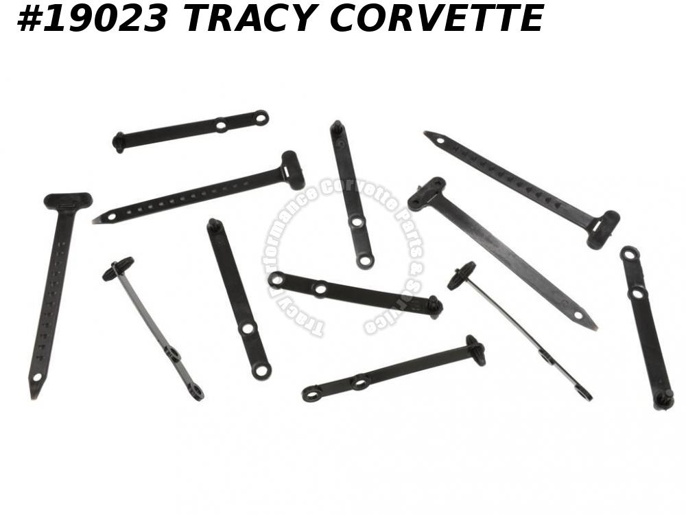 1965-1967 Corvette 327 Wire Harness Tie Straps - Set of 12