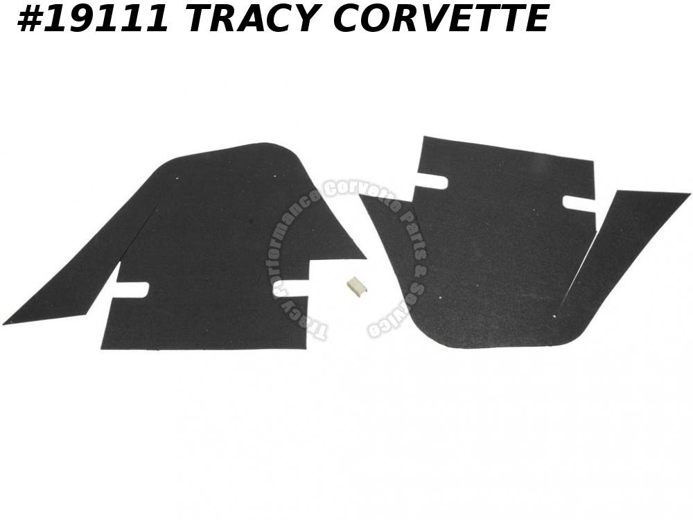 1968 Corvette Front A-arm / Control Arm Flap with Staples - 68 Early (Set of 2)