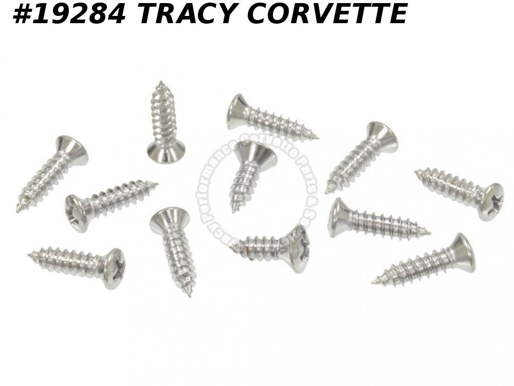 1963-1967 Corvette Windshield Moulding Screw Set - Convertible Inner - 12 Pieces
