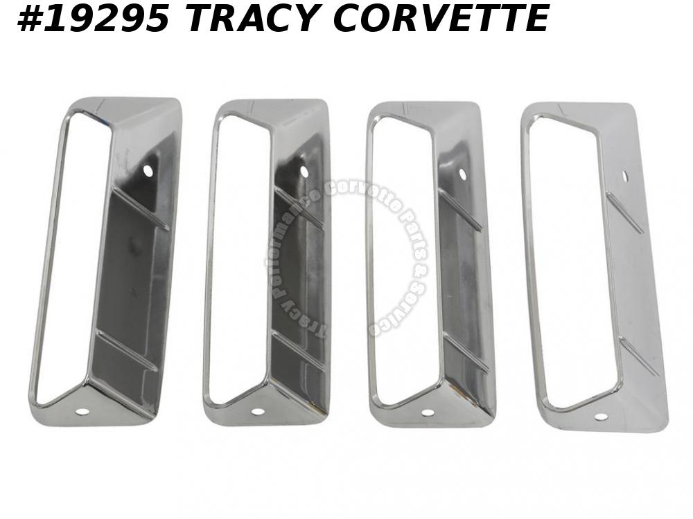1969 Corvette Left Side Fender Louver GM# 3945247  -  Set Of 4