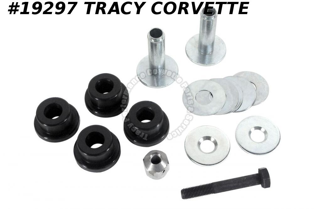 1963-1982 Corvette Trailing Arm Bushing Kit Polyurethane w/Crimp Tool Both Sides