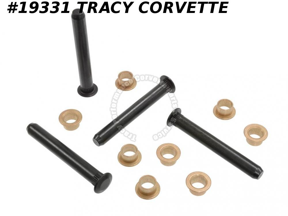 1963-1967 Corvette Door Hinge Pin And Bushing Set (4 Pins And 8 Bushings)