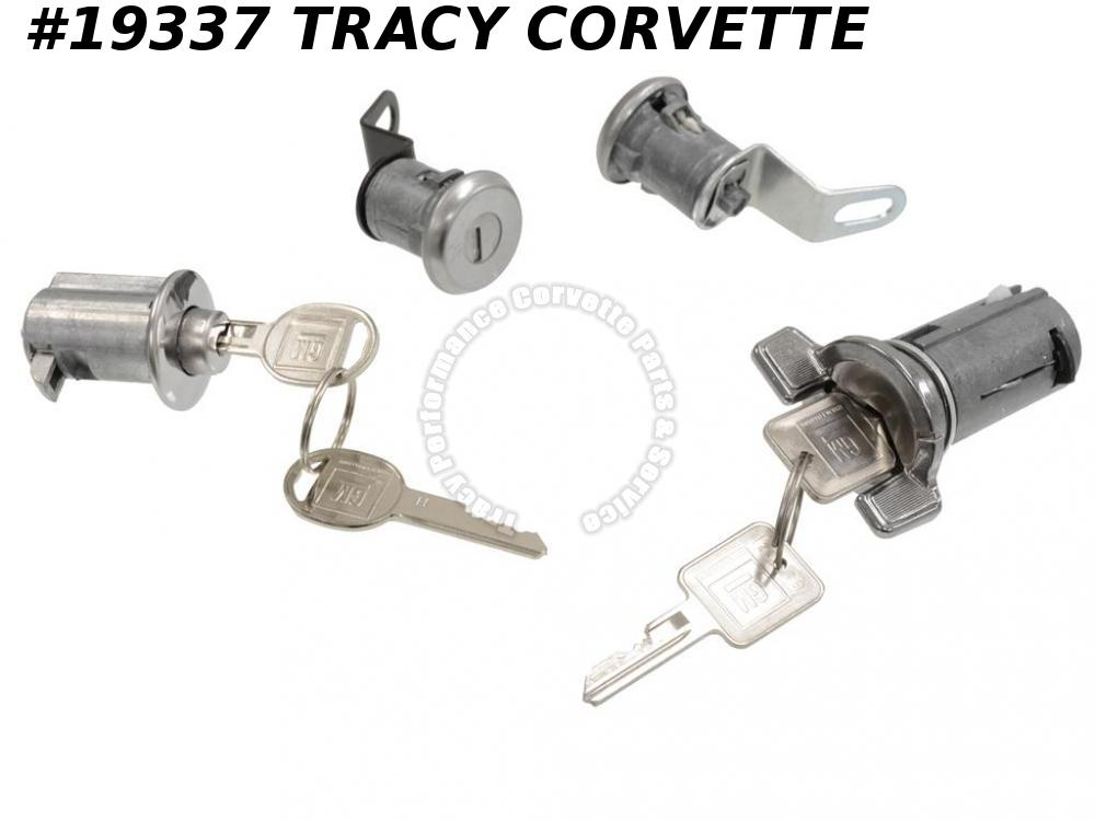 1969-1973 Corvette Lock Set with Keys