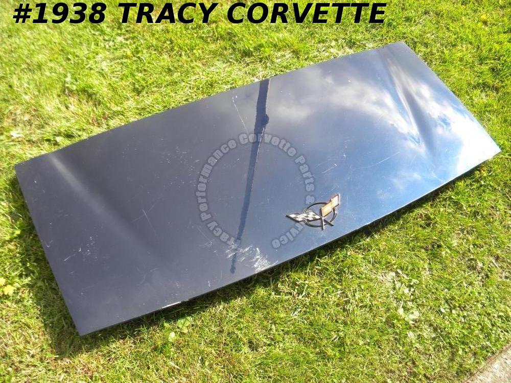 1998-2004 Corvette Used Convertible 10421169 Trunk Lid w/Hinges Emblem 99 01 02