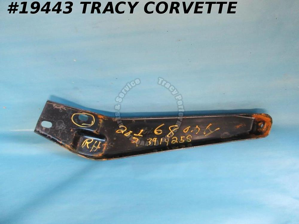 1968 Corvette Front Outer Bumper Bracket GM# 3914258 Right Hand Brace  NOS