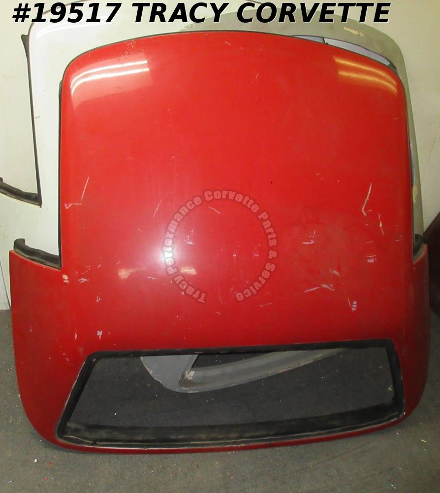 1989-1996 Corvette Convertible Hard Top, No Glass, Red No Rear Glass C4 Hardtop