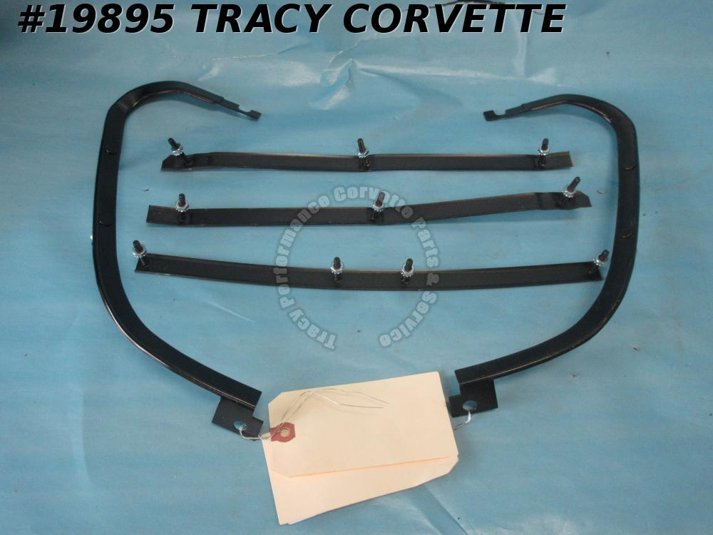 1975-1979 Corvette Front Bumper Retainer Kit 5 Piece w/ Studs & Nuts   New Repro
