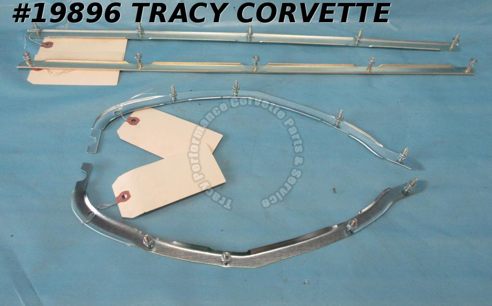 1974-1979 Corvette Rear Bumper Retainer Kit    4 pieces   USA Made     New Repro