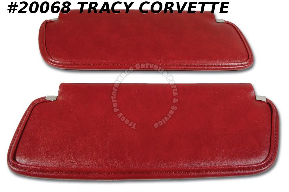 1976 Corvette Sun Visors - Firethorn - no vanity mirrors   **InStock Today**