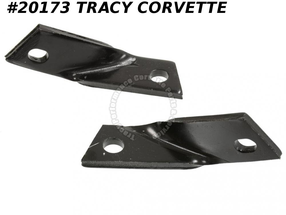1968-1972 Corvette 3927663 Bumper Extension Reinforcements  Front Outer To Nose