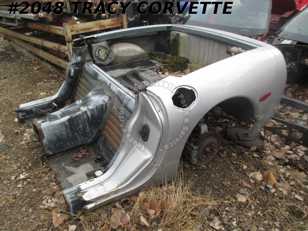 1997-2004 Corvette Used Coupe Rear Clip Shell w/Floor, Frame Section & Rear Axle