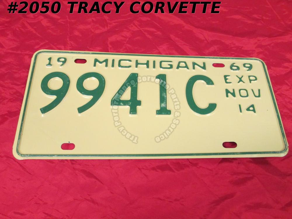 "1969 New Original Michigan License Plate 9941C Exp Nov 14 Not Used 12"" x 6"""
