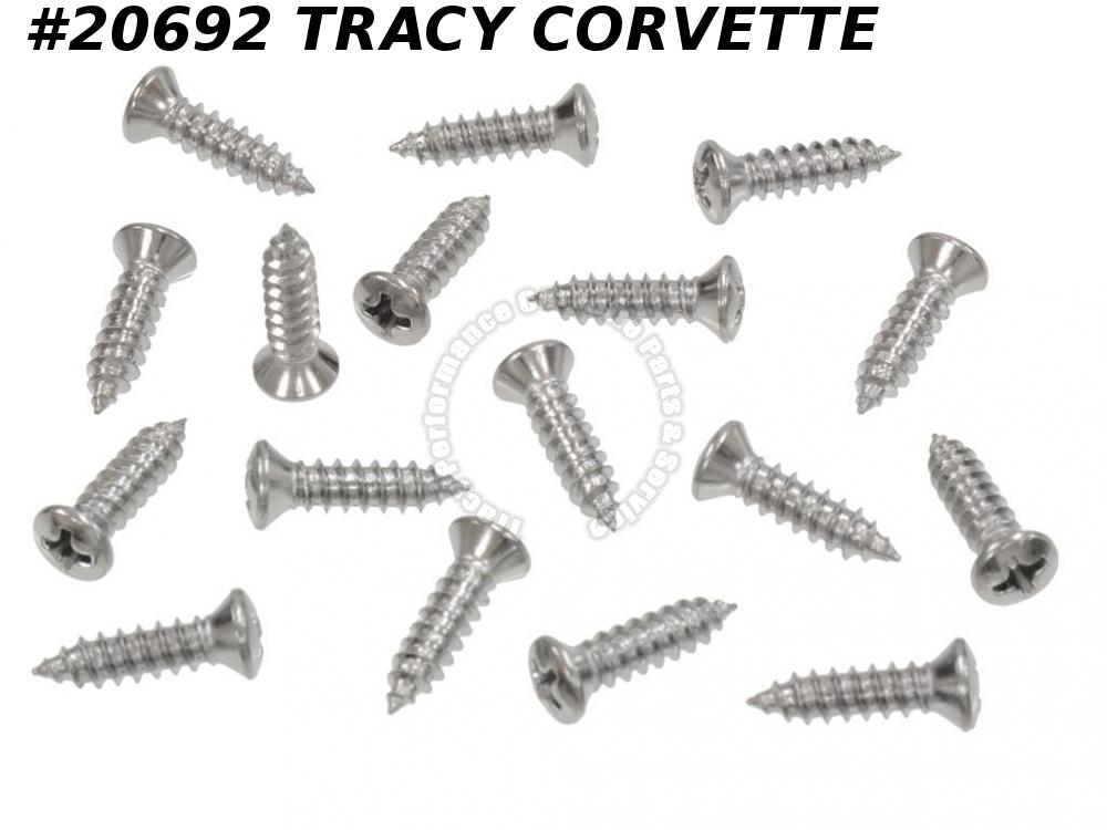 1963 Corvette Console Screw Set - 17 Pieces GM# 145417