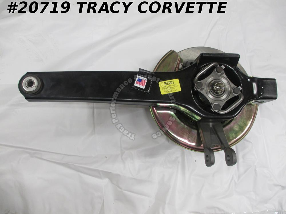 1980-1982 Corvette New RH Trailing Arm Assembly w/Rotor/Gold Backing Plate
