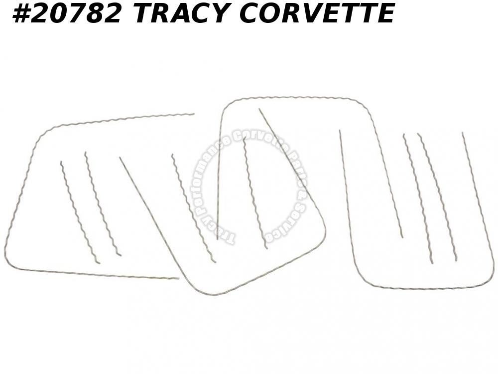 1965 Corvette Corrugated Seat Wire Kit includes 4 Hoops 6 Straight Pieces