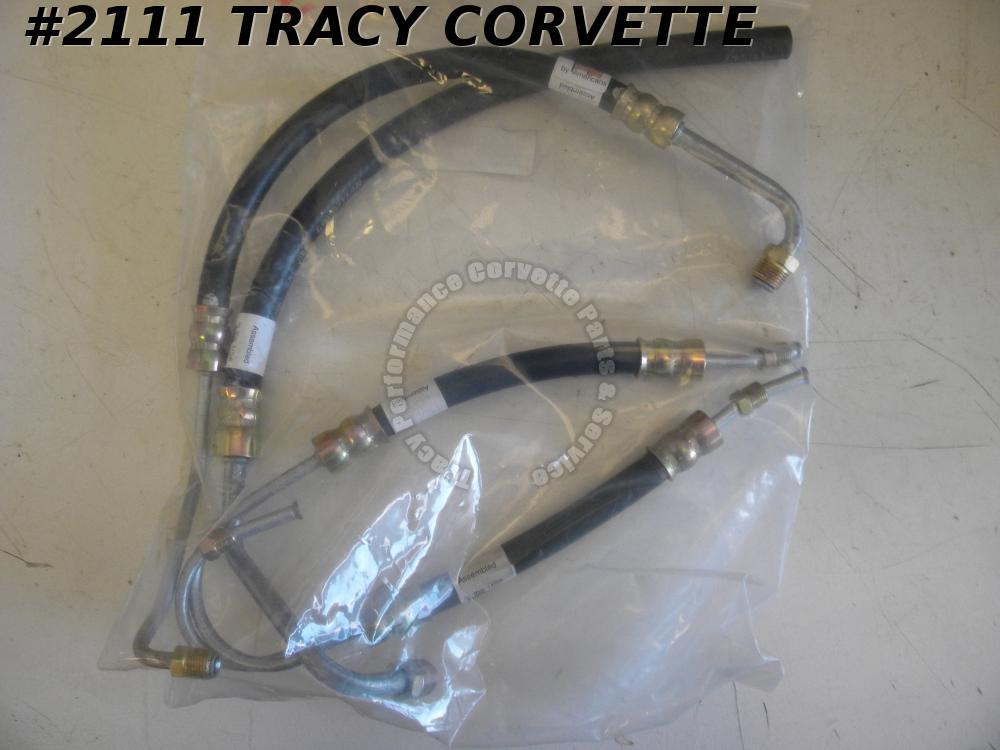 1965-1974 Corvette Power Steering Hose Kit Big Block 65-74 4 Piece Set USA Made