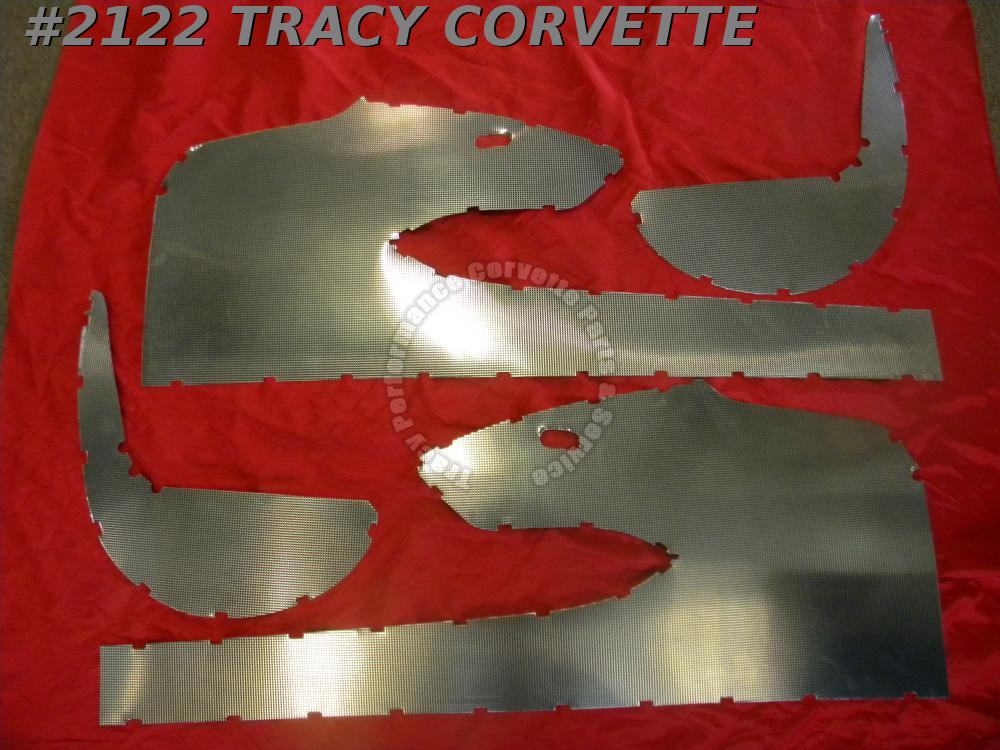 1959 Corvette New Reproduction Door/Kick Panel Metal Set / 4 Pc