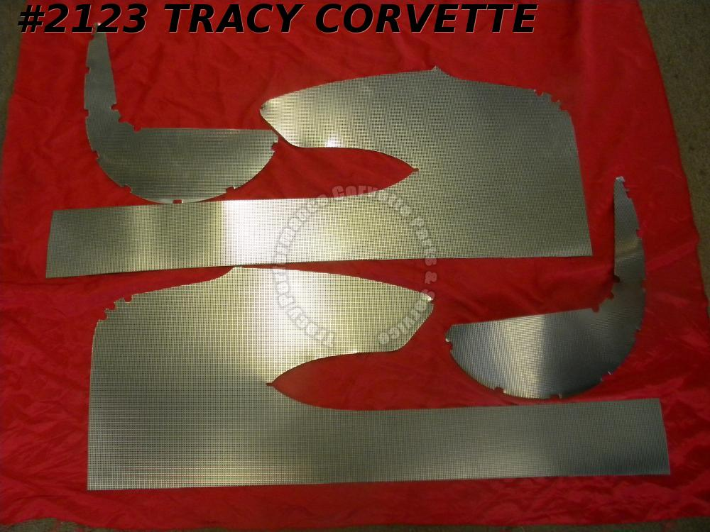 1958 Corvette Only New Reproduction Door/Kick Panel Metal Set/4 Pieces, 58 Vette
