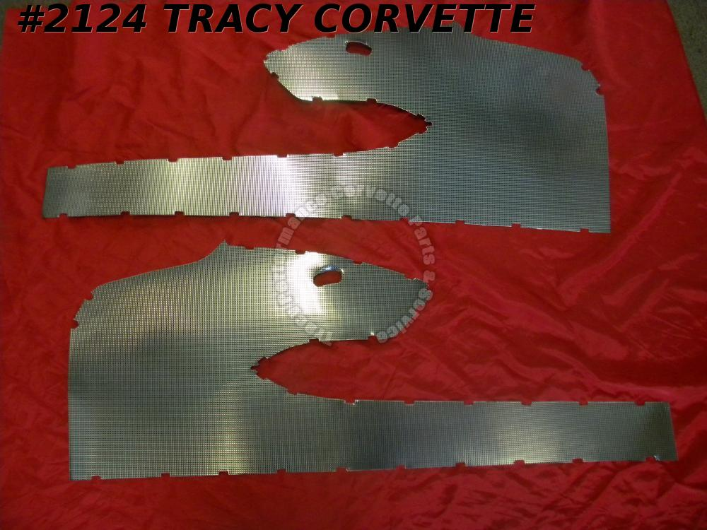 1959 Corvette New Reproduction Door Panel Metal Set / 2 Pc