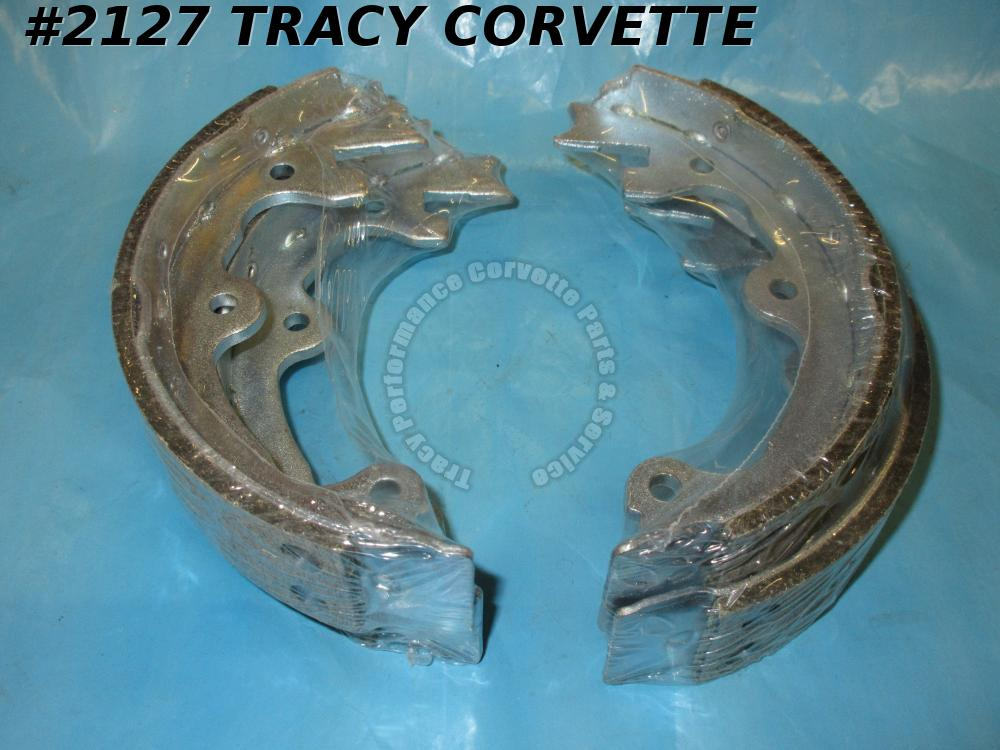 1965-1982 Corvette Emergency Rear Parking Brake Shoe Kit - Both Sides