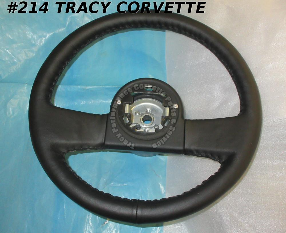 1984-1985 1986 87 88 1989 Corvette New Black Repro Leather Thick Steering Wheel