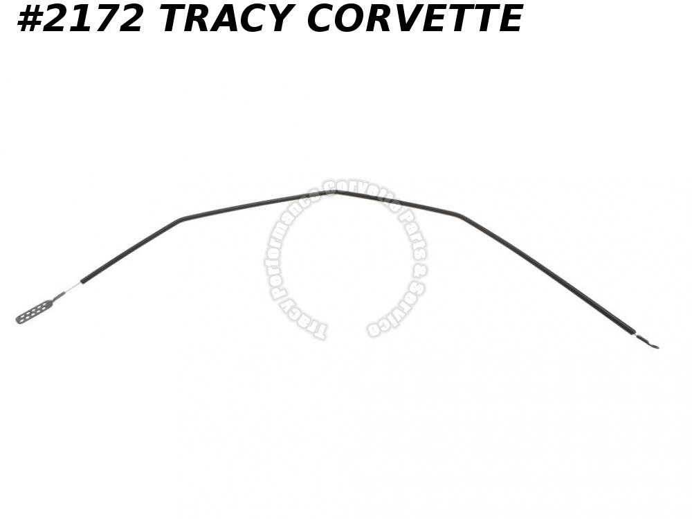 "1969-1976 Corvette Hood Release Cable GM# 3966626  On Hood 33"" Long Black Casing"