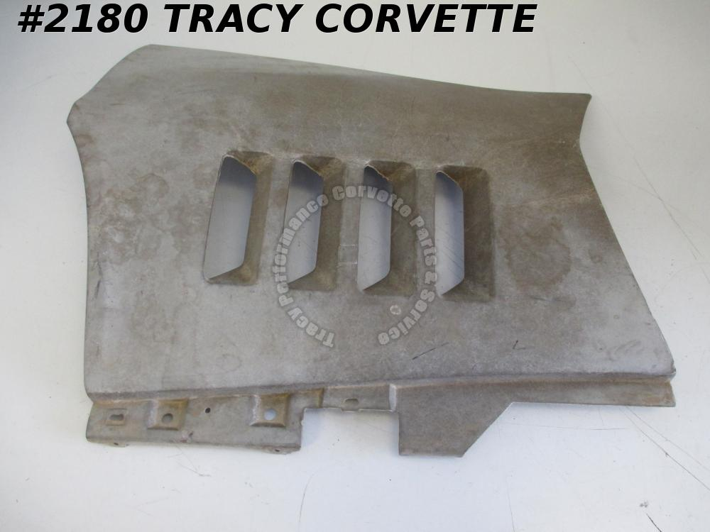1968-1969 Corvette NOS 3963181 LH Gray PM Side Fender Louver Panel Rear Section