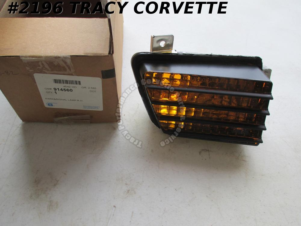 1980-1982 Corvette NOS 914560 RH Parking Lamp Lens in Grill 80 1981 81 82 Vette