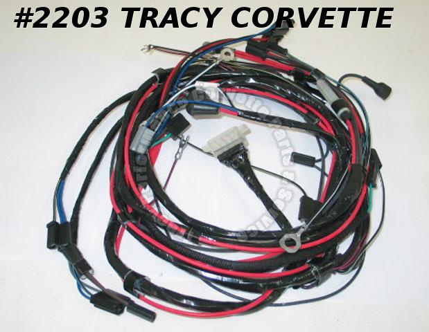 1963 Corvette New Repro Engine/Starter Wiring Harness w/AC USA Lectric Ltd