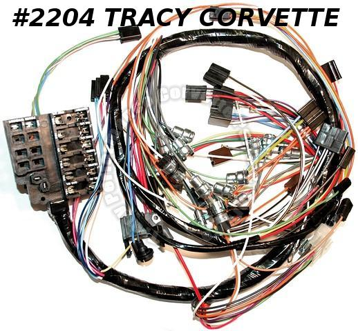 1963 Corvette Dash IP Wiring Harness GM2983971 2982596 w/o backup Lamps USA Made